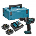 Perceuse-visseuse à percussion 18V (2x4.0 Ah) en coffret MakPac - MAKITA DHP480RMJ