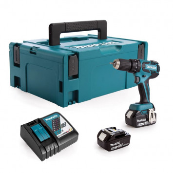 Perceuse visseuse à percussion 18V (2x5.0 Ah) - MAKITA DHP459RTJ