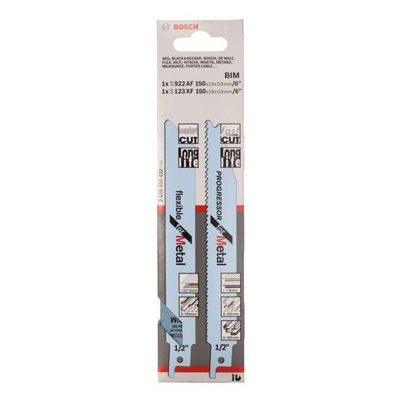Set de lames scie-sabre pour métal, S 922 AF et S 123 XF 2 pc(s) - BOSCH 2608656432