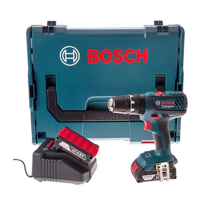 Perceuse visseuse à percussion 18V Li-Ion (2x2,0 Ah) en L-Boxx - BOSCH Bosch GSB 18-2-Li Plus