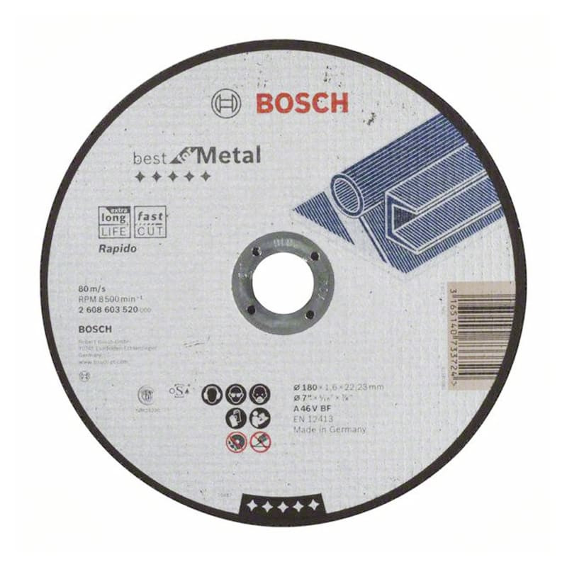 Disque à tronçonner à moyeu plat Best for Metal 180x 1,6 x 22,23 mm - BOSCH 2608603520