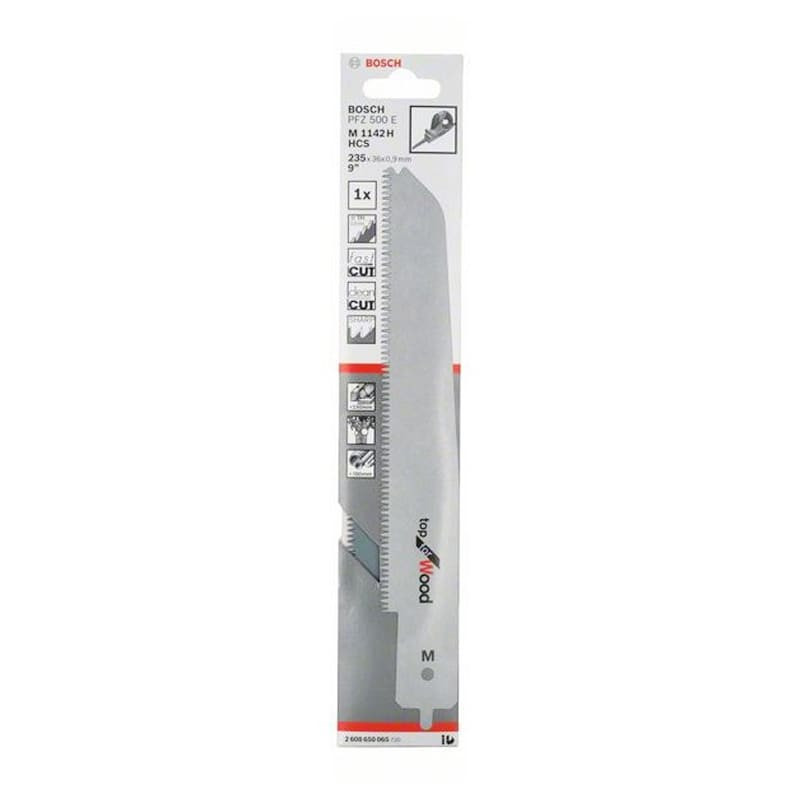 Lame de scie sabre M 1142 H pour égoïne multifonction PFZ 500 E, Top for Wood - BOSCH 2608650065