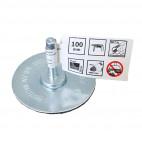 Brosse circulaire à fil ondulés Ø 100 cm Tige 6mm - BOSCH 2607017119
