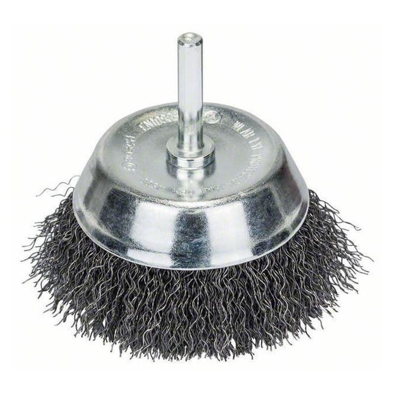 Brosse boisseau pour perceuse, à fils ondulés 75 mm /Ø6 mm - BOSCH 2607017123