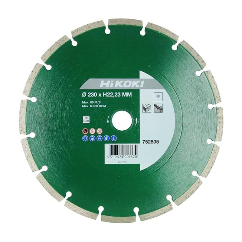 Disque diamant pour meuleuse Ø230 mm 22,2 mm - HIKOKI 752805