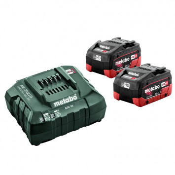 Set de 2 batteries 18 V Li-HD de 5.5 Ah avec chargeur - METABO 685122000
