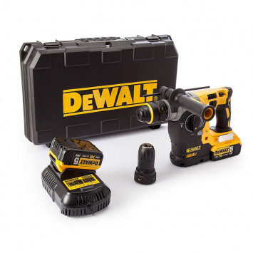Perforateur-Burineur SDS-Plus 2,1J 18V Li-Ion (2x 5,0Ah) en coffret - Dewalt DCH274P2