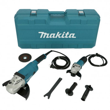 Meuleuse d'angle combi set (GA9020R / 9558NB) dans valise - MAKITA DK0052G