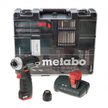 Perceuse visseuse 10.8 V 2x2.0Ah - METABO POWERMAXX BS BASIC SET (600080880)