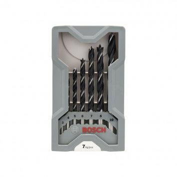 Coffret de mèches hélicoïdales à bois 7 pièces - BOSCH 2607017034