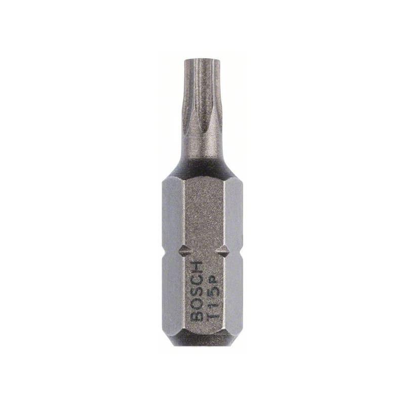 "Embout Torx T 15 extra-dur 25 mm 1/4"" (lot de 10) - Bosch 2607001608"
