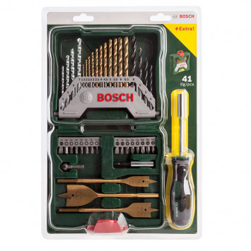 Set de 40 pièces forets X-line et porte embout - BOSCH 2607017334