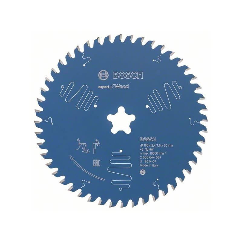 Lame de scie circulaire Expert For Wood 190 X 2,4 Mm 48 - Bosch 2608644087