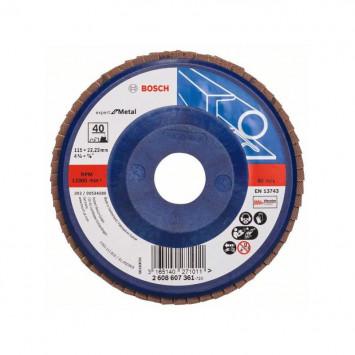 Disque à lamelles, plateau Ø 115mm Grain 40 - Bosch 2608607361