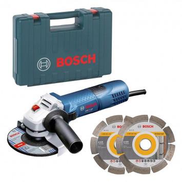 Meuleuse angulaire 720W Ø125 mm avec 2 disques dans coffret - BOSCH GWS 7-125