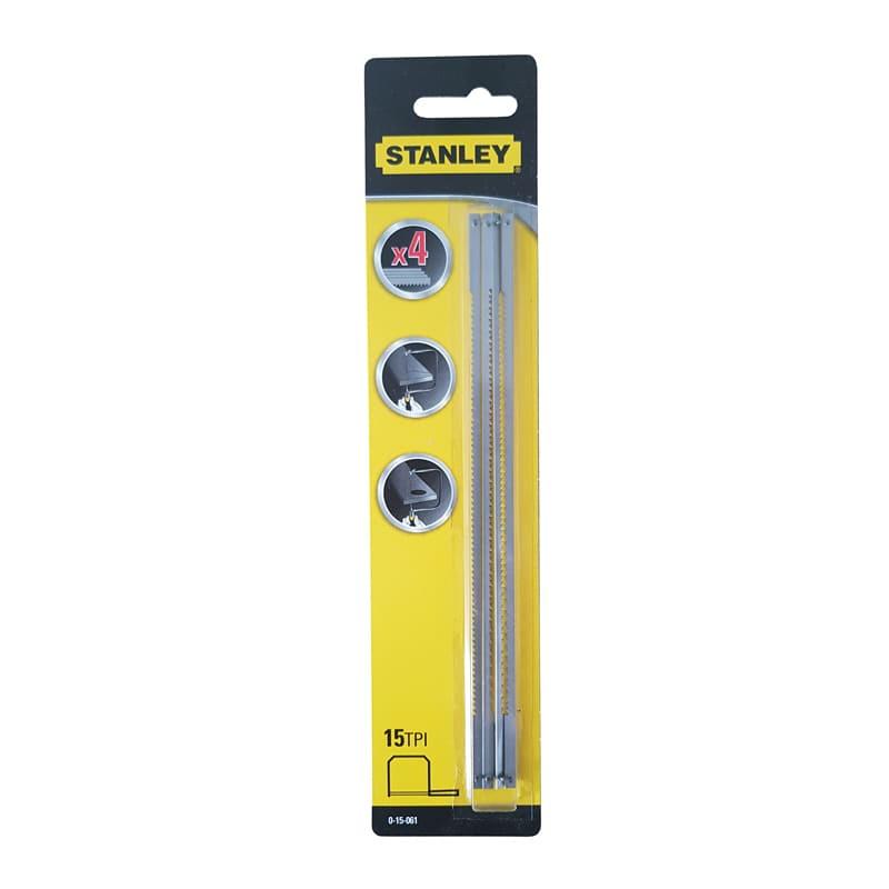 Set de 4 lames de scie à chantourner 160 mm - Stanley 0-15-061