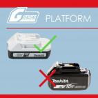 Batterie 18V Li-Ion 1,5 Ah empreinte spéciale - MAKITA BL1815G