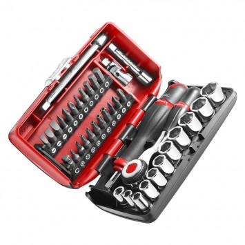 """Coffret de serrage douilles 1/4"""" avec set de vissage (38 outils) - FACOM R360"""