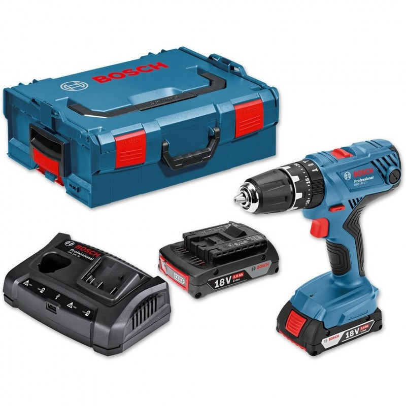 Perceuse visseuse à percussion 18V (2x2,0Ah) professionnel - BOSCH GSB18V-21