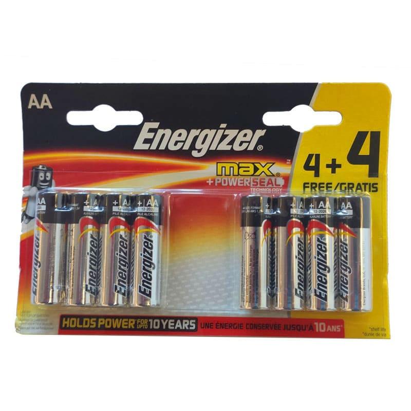 Energizer AA Batteries MAX+ Powerseal Technology High Performance (Lot de 8 piles)