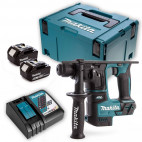 Marteau perforateur + 2 batteries + chargeur + coffret - MAKITA DHR171RTJ