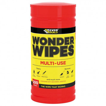 Tube de 100 lingettes rouges - Everbuild Wipe80