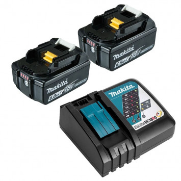 Pack power (2x6,0 Ah) avec chargeur simple - MAKITA 199480-6