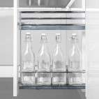 Porte-bouteilles extractible 115 mm Acier Chromé - EMUCA 8920811