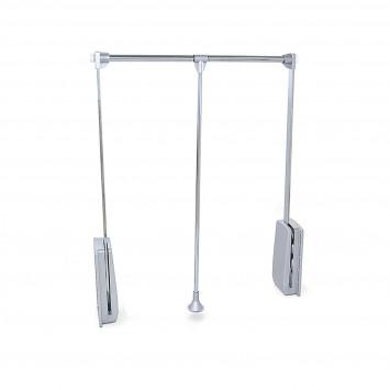 Penderie rabattable pour armoire - réglable 600 - 830 mm - jusqu'à 12 kg - Acier Chromé - EMUCA 9283811