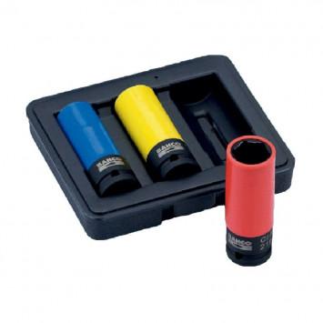 """Jeu de 3 douilles à chocs 1/2"""" pour roues (17-19-21 mm) - BAHCO BWSS12P3"""