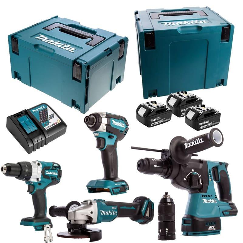 Combopack de 4 machines 18V (3x5.0 Ah) dans MakPac - MAKITA DLX4090TJ1