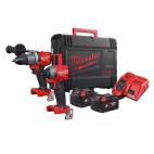 Powerpack M18 Fuel perceuse à percussion et visseuse à chocs 18V (2x5,0 Ah) - MILWAUKEE M18FPP2A2-502X