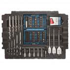 Perceuse visseuse 14,4V (2x1,3 Ah) avec 66 accessoires dans MAKPAC - MAKITA DF347DWJX4