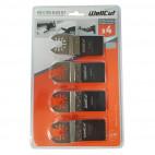 Set de lames pour outil multifonctions (4 pcs) - WELLCUT WC-MT4