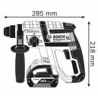 Marteau perforateur SDS-Plus 18V (2x5,0 Ah) dans L-BOXX - Bosch GBH18V-EC