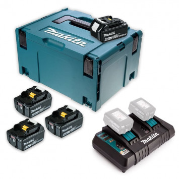 Lot de 4 batteries 18V Li-Ion 6,0Ah pour outils sans fil - Makita 198091-4