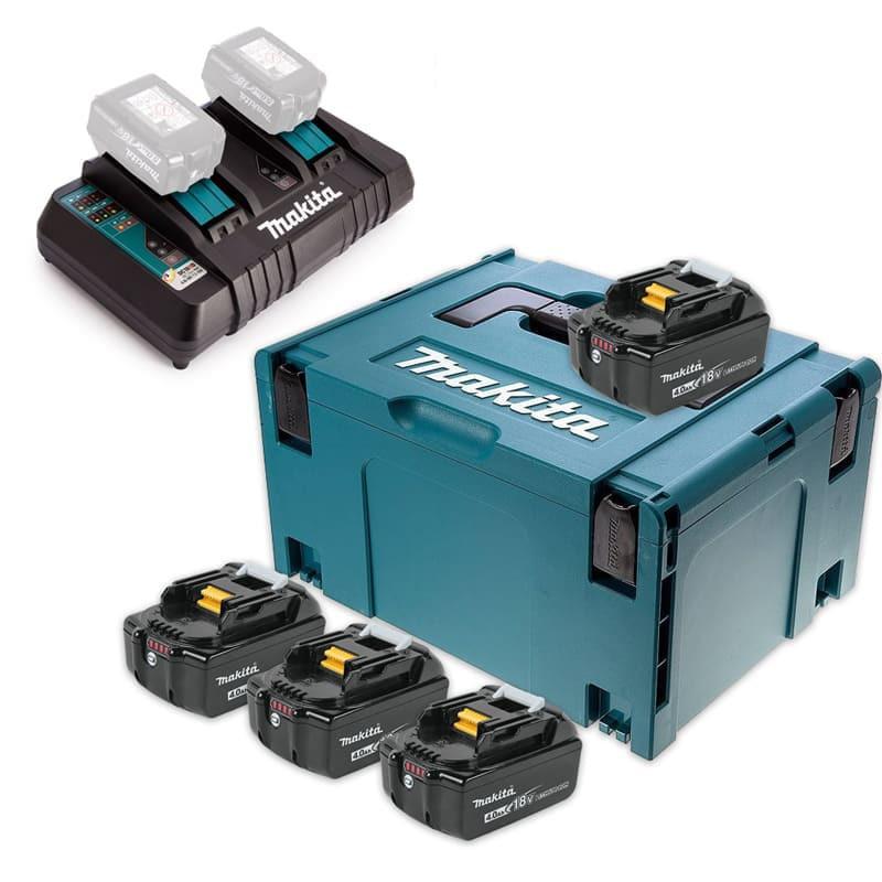 Lot de 4 batteries 18V Li-Ion 4,0Ah pour outils sans fil - Makita 197503-4