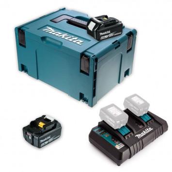 Pack Énergie 18 V Li-Ion (2x6,0 Ah) avec chargeur double dans MAK-PAC - MAKITA 198077-8