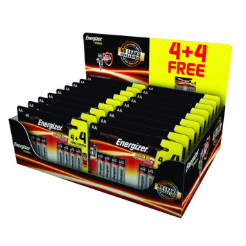 Energizer AA Batteries MAX+ Powerseal Technology High Performance x24 (Lot de 8 piles)
