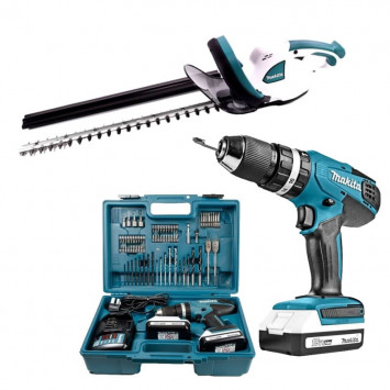 Pack machine série G perceuse (HP457DWE10) et taille-haie (UH522DZ) - MAKITA BUNDLE01