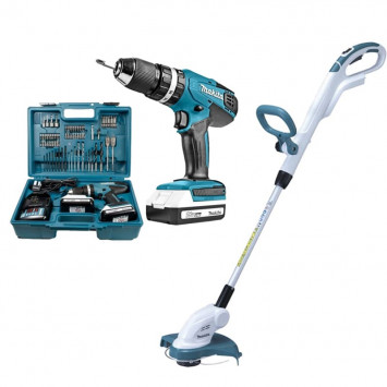 Pack machine série G perceuse (HP457DWE10) et coupe-bordure (UR180DZ) - MAKITA BUNDLE02