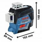 Laser lignes auto-nivelant 10,8-12V (1x2,0 Ah) - BOSCH GLL 3-80 C