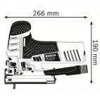 Scie sauteuse 780W avec 35 lames et accessoire dans L-Boxx - GST 150 CE