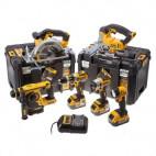Pack 6 outils sans fil 18V XR (3x 4,0Ah) avec 2 coffrets T-STAK - DEWALT DCK699M3T