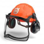 Casque CLASSIC avec visière grillagée et protecteurs d'oreilles - HUSQVARNA 580754301