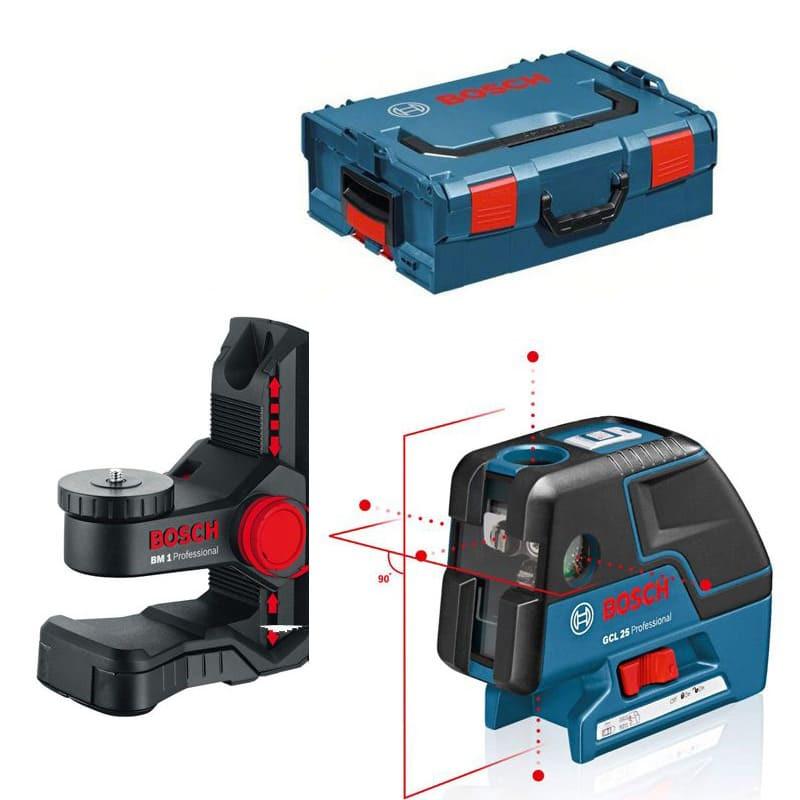 Niveau laser 5 points GCL 25 + support BM 1 en coffret L-BOXX - BOSCH 0601066B03
