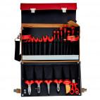 Jeu d'outils isolés dans mallette en cuir (19 pcs) - BAHCO 3045V-2