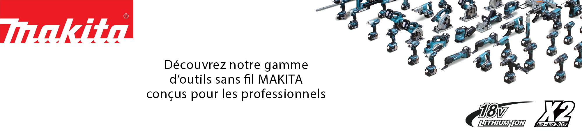gamme d'outils makita